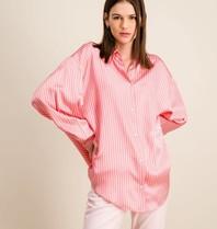 DMN Paris DMN Paris Chloe zijde blouse rayure roze