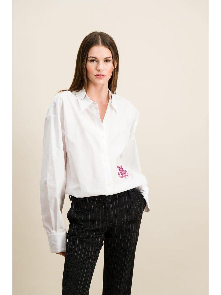 DMN Paris DMN Paris Chloe blouse broderie fuchsia
