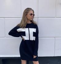 Elisabetta Franchi Elisabetta Franchi gebreide trui met logo zwart