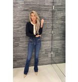 Elisabetta Franchi Elisabetta Franchi flared jeans met accessoire blauw