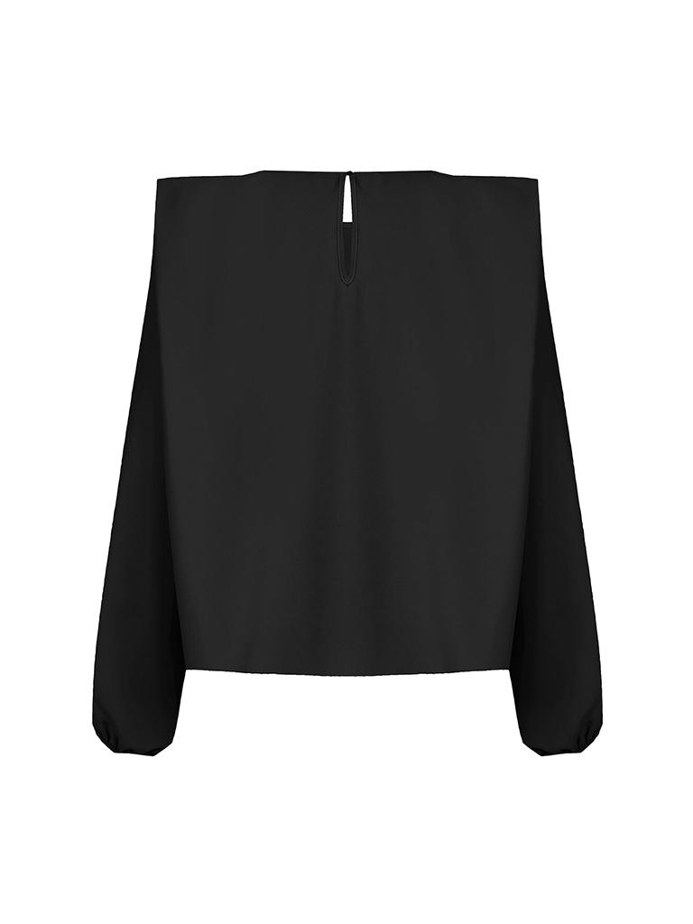 Rinascimento Rinascimento blouse met schoudervulling zwart