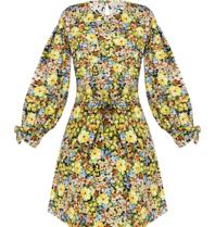 Rinascimento Rinascimento jurk met ceintuur bloemenprint multicolour