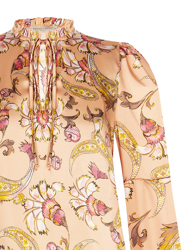 Rinascimento Rinascimento blouse met bloemenprint roze