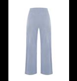 Rinascimento Rinascimento gestreepte wijd uitlopende pantalon blauw
