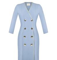 Rinascimento Rinascimento double-breasted jurk blauw