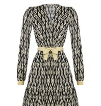 Rinascimento Rinascimento jurk met ikat print zwart