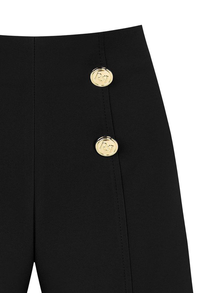 Rinascimento Rinascimento short met goudkleurige knopen zwart