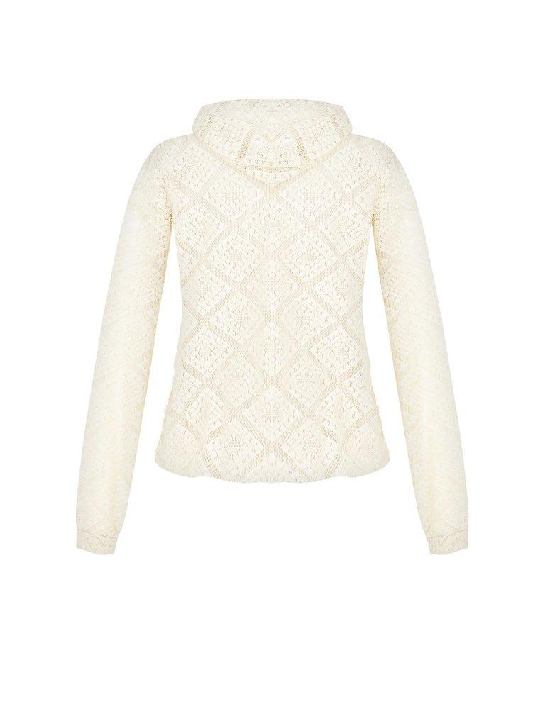 Rinascimento Rinascimento sweater met kanten details creme