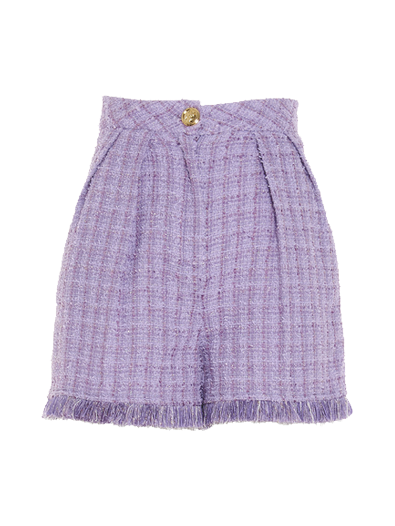 Elisabetta Franchi Elisabetta Franchi high waist tweed shorts lavandel