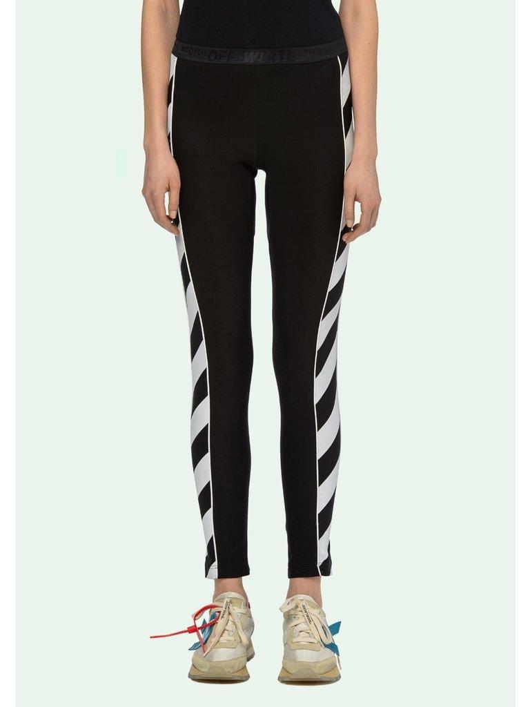 Off-White OFF-WHITE Diag atheltic leggings with striped trim black
