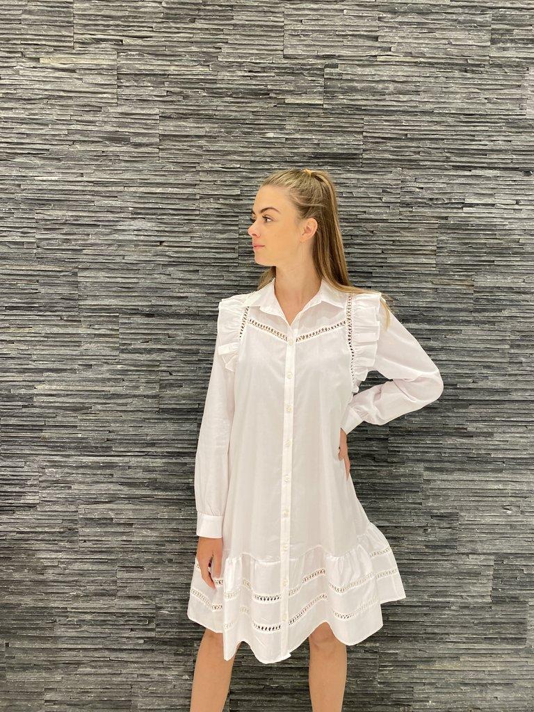 Rinascimento Rinascimento jurk met see-trough details wit