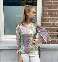 Rinascimento Rinascimento blouse met kettingprint multicolor mint