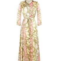 Rinascimento Rinascimento maxi jurk met ketting print multicolor roze