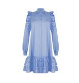 Rinascimento Rinascimento jurk met see-trough details blauw
