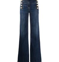Elisabetta Franchi Elisabetta Franchi wijd uitlopende jeans met knopen blauw