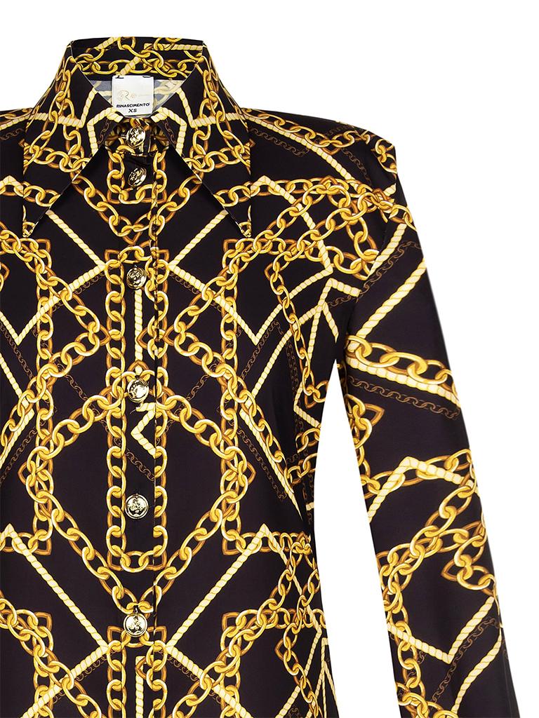 Rinascimento Rinascimento Gold Era blouse met print zwart