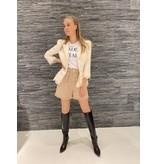 Elisabetta Franchi Elisabetta Franchi blazer with lace burro