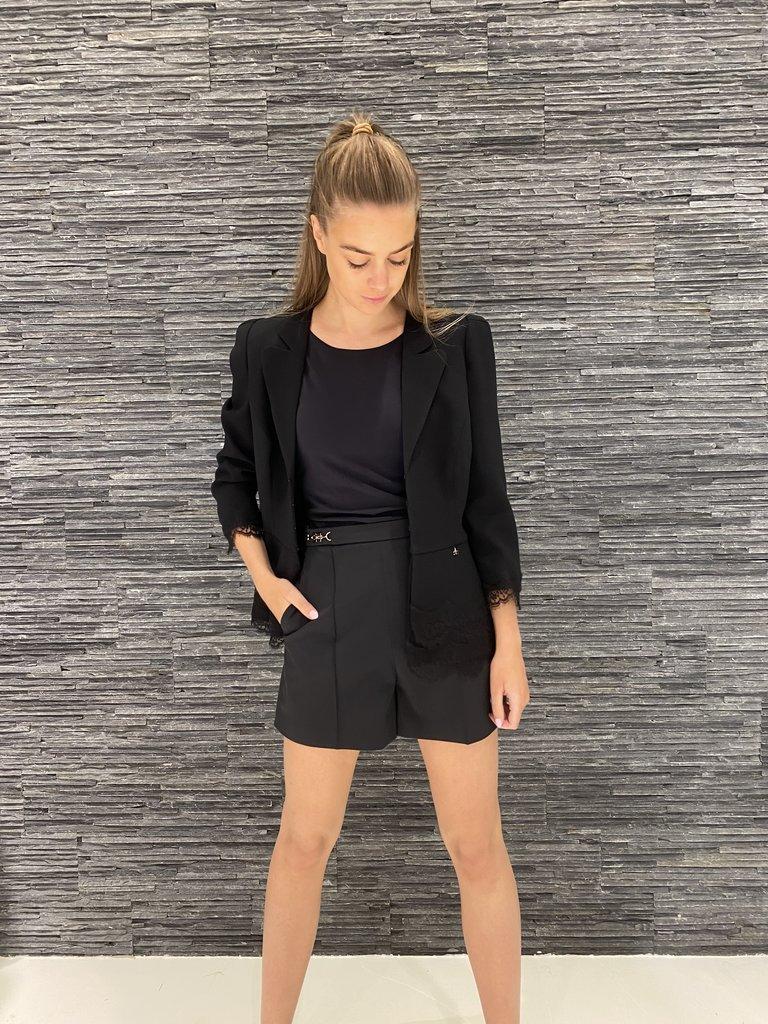 Elisabetta Franchi Elisabetta Franchi shorts met gesp logo zwart