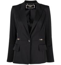 Elisabetta Franchi Elisabetta Franchi blazer met gesp logo zwart