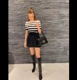 Elisabetta Franchi Elisabetta Franchi broekrok met strik zwart