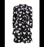 Elisabetta Franchi Elisabetta Franchi jurk met hartjesprint zwart