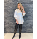 DMN Paris DMN Paris Chloe zijde blouse met broderie ecru