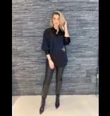 DMN Paris DMN Paris Chloe zijde blouse met broderie zwart