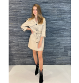 Rinascimento Rinascimento cargo jacket met ceintuur beige