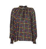 Est'seven Est'Seven Etoile blouse zwart rainbow star