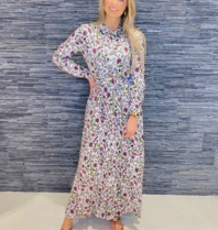 Est'seven Est'Seven Rio maxi jurk met bloemenprint multicolour