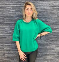 Est'seven Est'Seven Roman sweater emerald groen