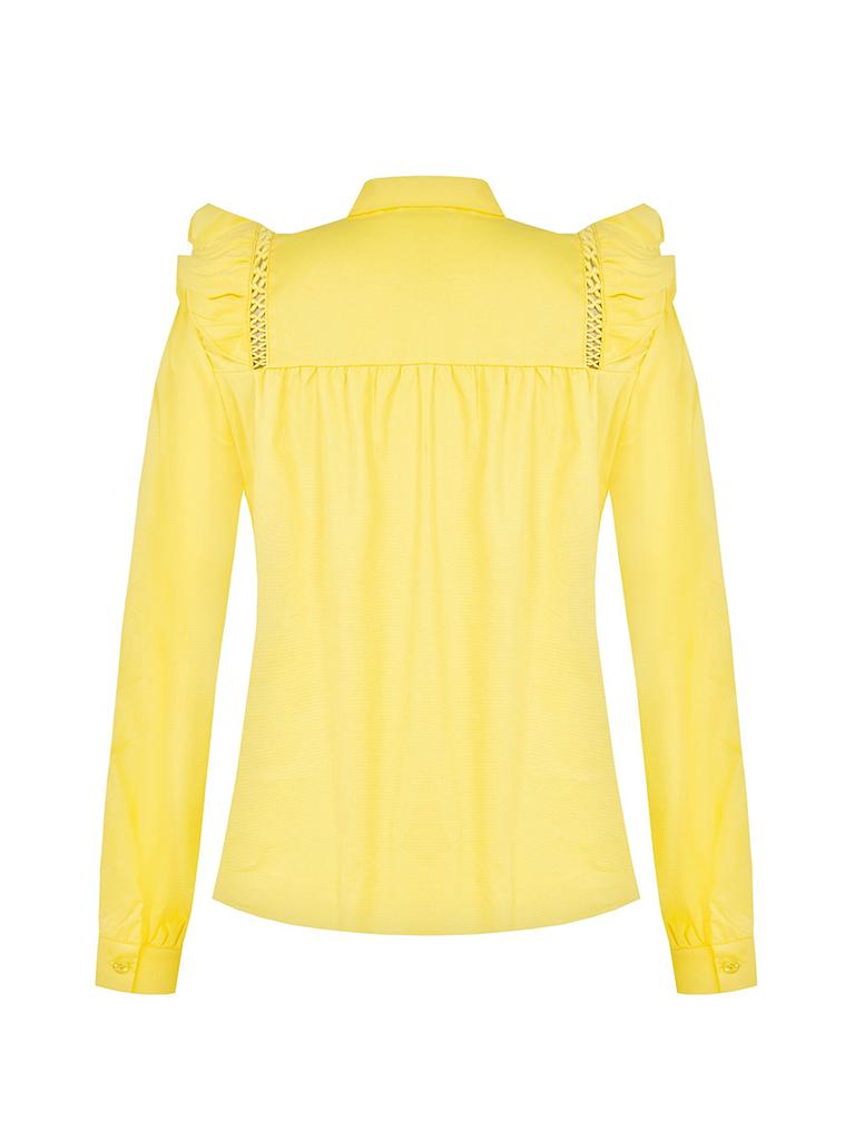 Rinascimento Rinascimento blouse met see-trough details geel