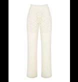 Rinascimento Rinascimento pantalon met kanten details creme