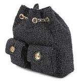 Elisabetta Franchi Elisabetta Franchi tweed rugzak zwart