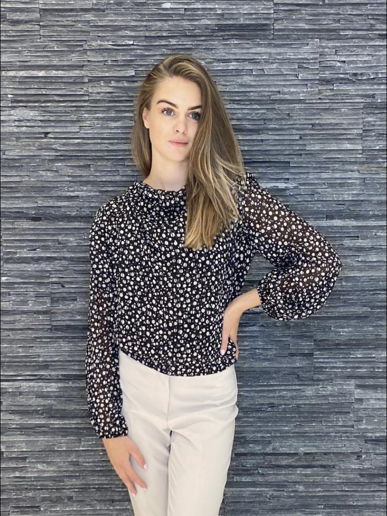 Rinascimento Rinascimento blouse met print zwart