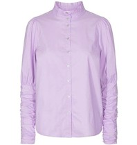Co'couture Co'couture Sandy Poplin pofmouwen blouse paars
