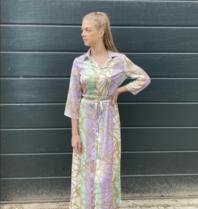 Rinascimento Rinascimento maxi jurk met ketting print multicolor turquoise