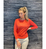 Be You Be You Cashmere silk classic Be Gorgeous trui koraal
