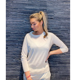 Be You Be You cashmere silk classic Be Gorgeous trui ivory