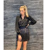 Elisabetta Franchi Elisabetta Franchi tweedelige jurk met knopen zwart