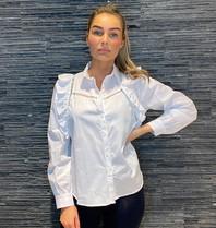 Rinascimento Rinascimento blouse met see-trough details wit