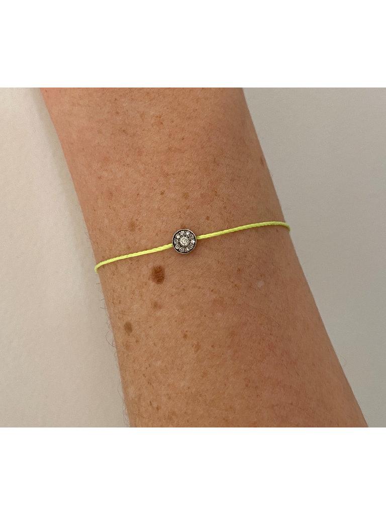 VANESSA TUGENDHAFT Vanessa Tugendhaft draad armband met diamanten geel zilver
