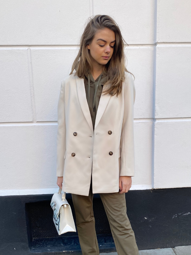 Co'couture Co'couture Vola oversized blazer beige