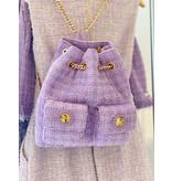 Elisabetta Franchi Elisabetta Franchi tweed rugzak lavendel