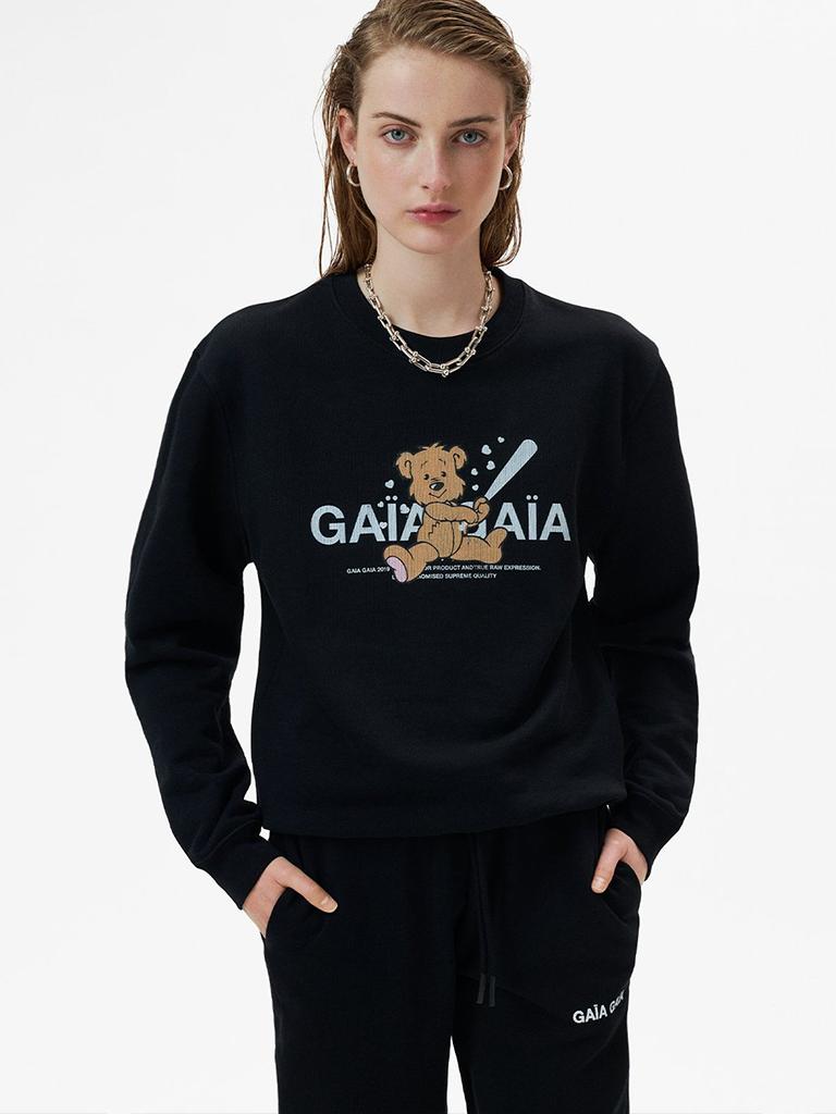 GAÏA GAÏA Gaïa Gaïa bear oversized sweater zwart