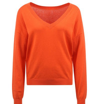 Les Favorites Les Favorites Day v-neck trui oranje