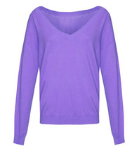 Les Favorites Les Favorites Day v-neck sweater paars