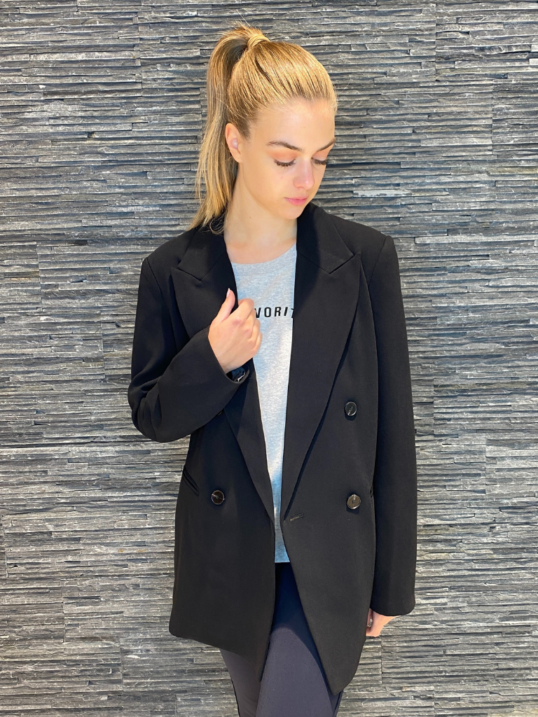 Co'couture Co'Couture Andrea oversized blazer zwart