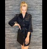 Rinascimento Rinascimento cargo jacket met ceintuur zwart