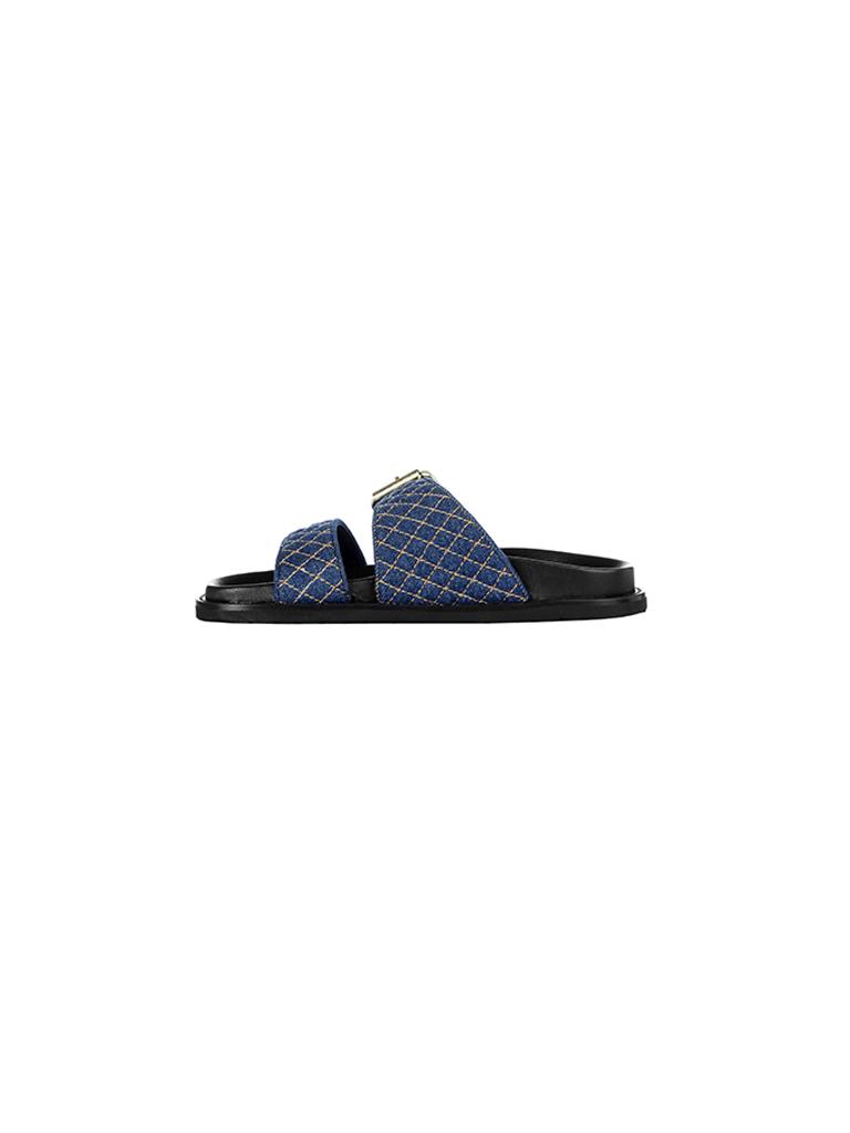 Rinascimento Rinascimento sandalen met dubbele banden blauw